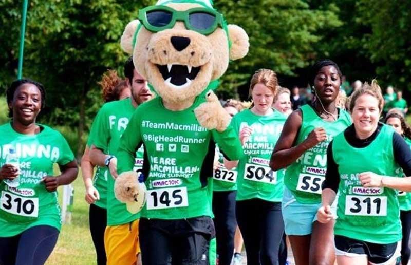 Mascots Running